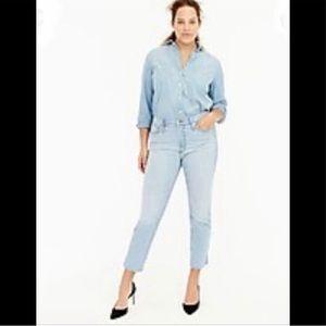J Crew Vintage Cropped Straight Jeans Sz 26